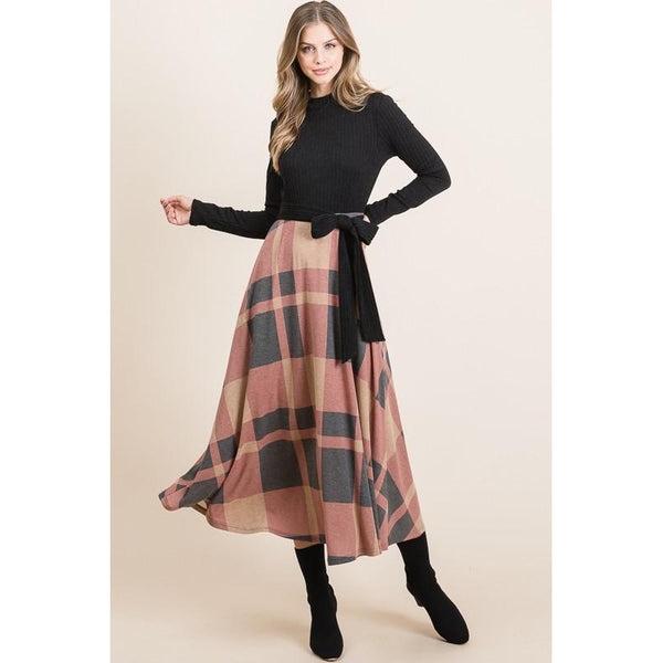 Mia Plaid Midi