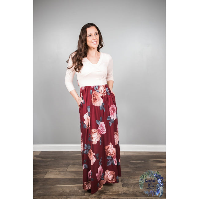 Laura Floral Bloom Maxi Dress