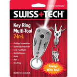Swiss Tech 7 in 1 Key Ring Multi-Tool w/ LED