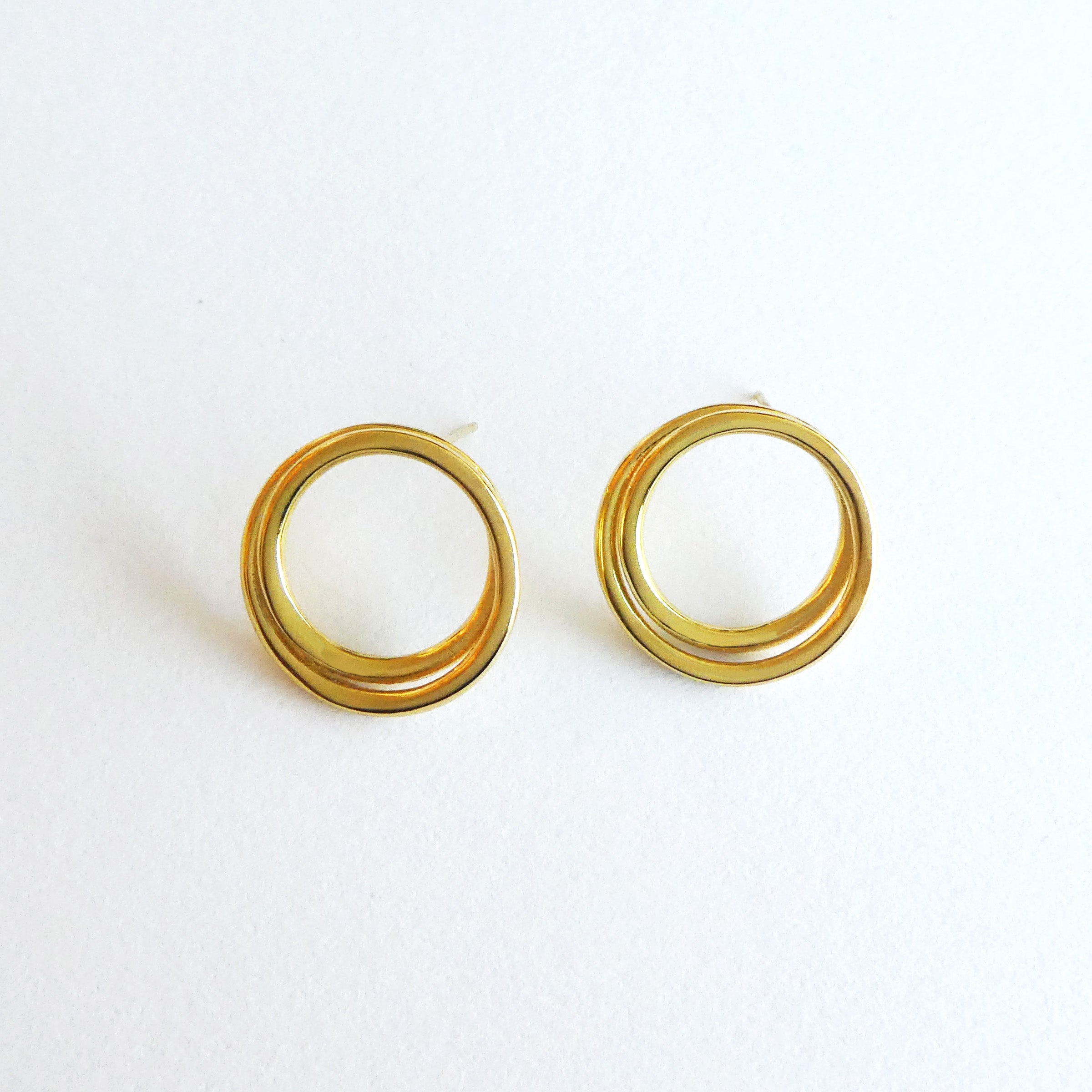 diamond bling circle yellow in products white or stud gold open earring