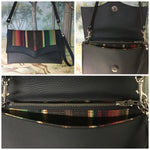 Clutch / Shoulder Bag - Chocolate Brown Serape with Pebble Black / Chocolate Serape Lining