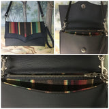 PRE-ORDER! Copy of Clutch / Shoulder Bag - Chocolate Brown Serape with Pebble Black / Chocolate Serape Lining