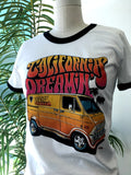 California Dreaming Fitted Ringer Tee