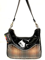 El Dorado Hobo Bag - Brown Pendleton Fabric / Grease Black -  Leopard Lining