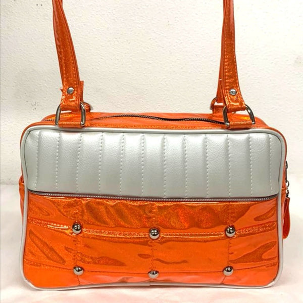 Lincoln Tote - Cosmic-Orange /  Pearl White - Leo Lining