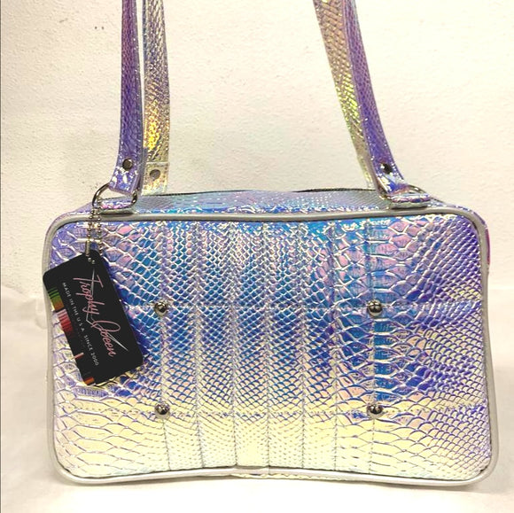 Galaxy Tote - Mermaid / Pearl White - Leopard Lining