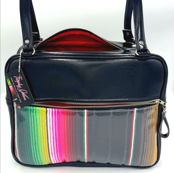 Fairlane Business Bag - Mexican Blanket / Grease Black - Red Lining