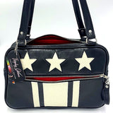 Stars and Stripes GTO - Grease Black / White Glitter Stars and Stripes - Red Lining