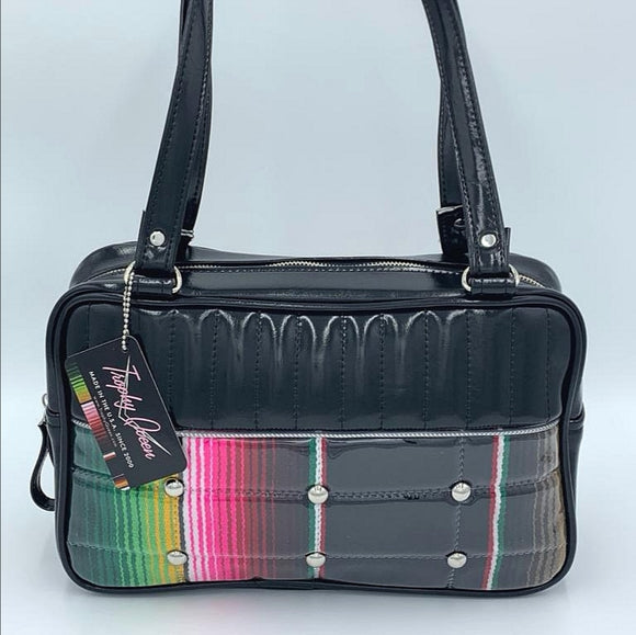Lincoln Tote Bag - Mexican Blanket  / Grease Black - Leopard Lining