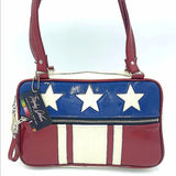 Stars and Stripes GTO Tote Bag - Leopard Lining