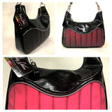 El Dorado Hobo Bag - Black Pink Neon Cameleon/ Grease Black
