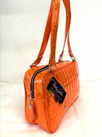 Galaxy Tote - Cosmic Orange / Leopard Lining