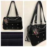 Lincoln Tote - Black '71 Pontiac Fabric / Grease Black - Leopard Lining