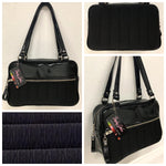 Fairlane Tote Bag - Black '71 Pontiac Fabric / Grease Black Vinyl - Leopard Lining