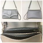 Clutch / Shoulder Bag - Silver / Limited Edition Snowflake Lining