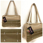 Lincoln Tote - Gold '64 Buick Fabric / Champagne - Leopard Lining
