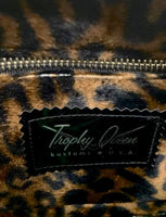 Tuck and Roll Tote Bag - Gold '65 Chevy Fabric / Grease Black- Leopard Lining