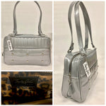 Lincoln Tote - Chrome Glitter /  Leopard Lining