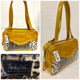 Tuck and Roll Tote Bag - Leopard Print / Marigold Glitter - Leopard Lining