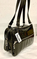 Fairlane Tote Bag - Black Gold Vinyl / Leopard Lining