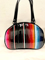 Lucky Strike Bowling Style Bag - Mexican Blanket / Grease Black- Leopard Lining
