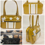 Stars and Stripes GTO Tote Bag - Marigold / Pearl Stars and Stripes - Leopard Lining