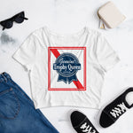 Blue Ribbon Crop Top T-Shirt
