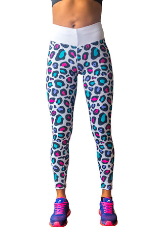 Legging animal print blanco