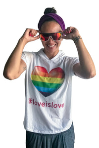 Capucha de malla BLANCA | Love is Love