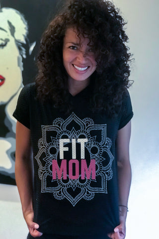 Capucha de malla NEGRA | FIT MOM