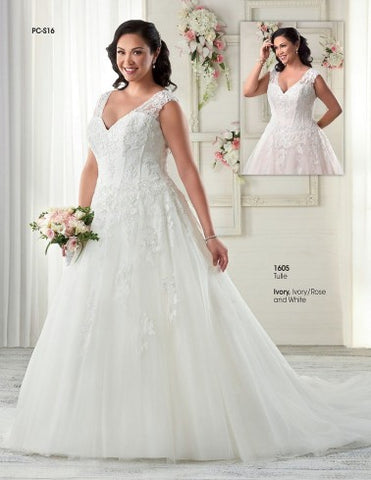 Unforgettable Bridal, Style 1605, Size 20W, Ivory
