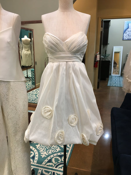 Size 8, Alfred Angelo, ivory, short bridal dress