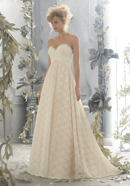 Size 12, Mori Lee, Style 6781, Champagne/Ivory