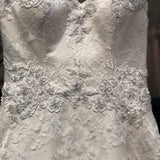 Sincerity Bridal by Justin Alexander Style # 3846, size 8, light gold/ ivory