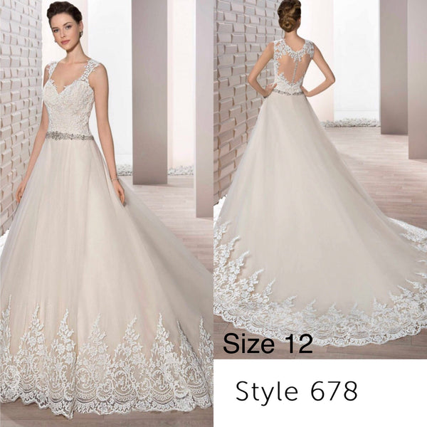Demetrios 678 size 12 ball gown wedding dress