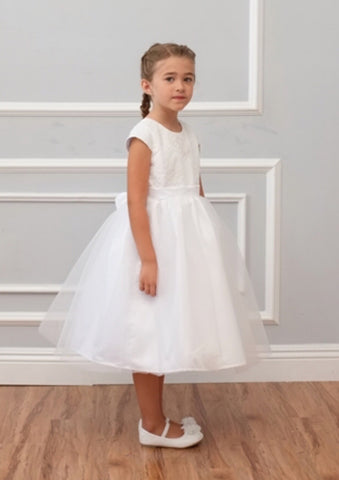 Isobella & Chloe size 8 communion/ flower girl white dress