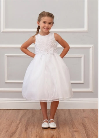 Isobella & Chloe size 12 white first communion/ flower girl dress