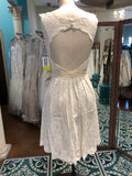 Wtoo camellia size 2 short lace ivory /almond dress