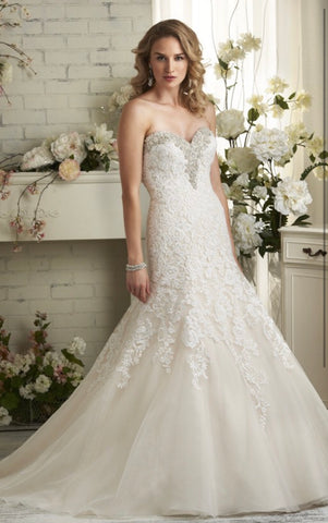 Bonny Bridal size 6 style 500 available in champagne