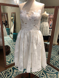 Wtoo Size 4 short ivory bridal dress