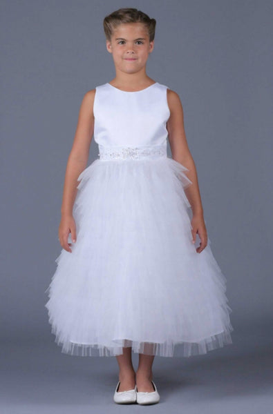 Isobella & Chloe size 12 white first communion/flower girl dress