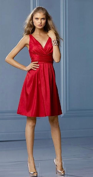 Wtoo style 478 cherry red size 10 short bridesmaid dress
