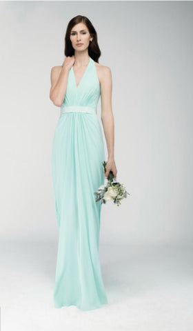 Wtoo aqua colored style6542 bridesmaid dress