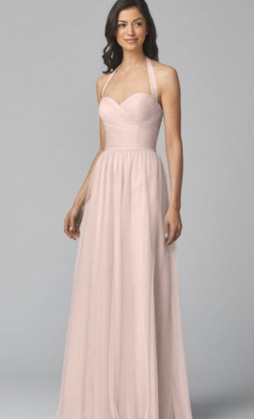 Wtoo pink bridesmaid dress style 950i bobbinet