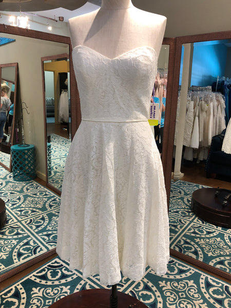 Wtoo size 2 lace short ivory wedding dress