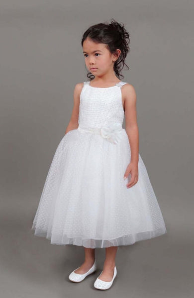 Isobella & Chloe Size 14 white communion/ flower girl dress