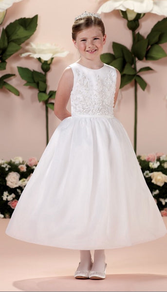 Joan Calabrese size 10 white communion/flower girl dress