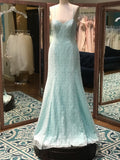 Wtoo DT70497N mint bridesmaid dress