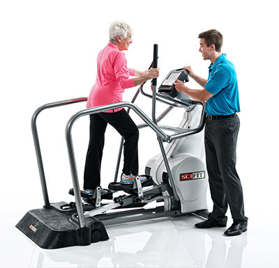 SciFit® Elliptical Total Body with Easy Entry Package (platform & handrails)