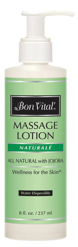 Bon Vital® Naturale Massage Lotion - 8 oz bottle with pump - Case of 12